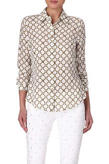 MICHAEL KORS Chain-link printed blouse