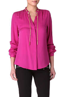 MICHAEL KORS Chain-embellished blouse