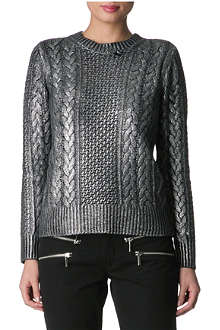MICHAEL KORS Metallic cable-knitted jumper