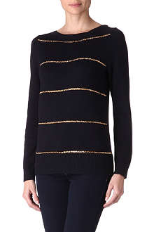 MICHAEL KORS Chain stripe jumper