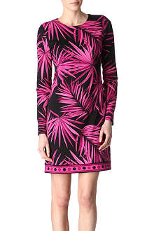 MICHAEL KORS Tropical palm-print dress