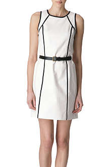 MICHAEL KORS Belted contrast dress