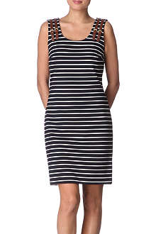 MICHAEL KORS Striped buckle dress