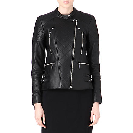 MICHAEL KORS Leather biker jacket (Black
