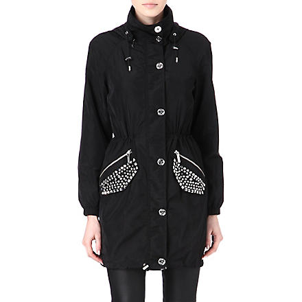 MICHAEL KORS Stud pocket anorak (Black