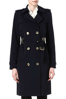 MICHAEL KORS Eyelet detail trench coat