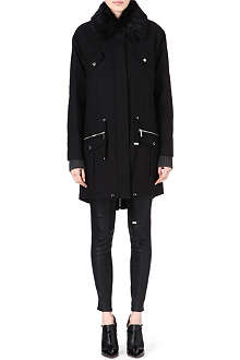 MICHAEL KORS Faux fur-collar parka
