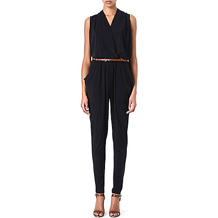 MICHAEL MICHAEL KORS Draped jumpsuit (Navy