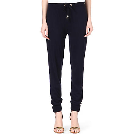 MICHAEL KORS Cashmere-blend drawstring joggers (Midnight