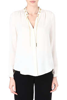 MICHAEL KORS Solid silk long-sleeve shirt