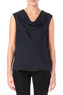 MICHAEL KORS Cowl neck silk-crepe top