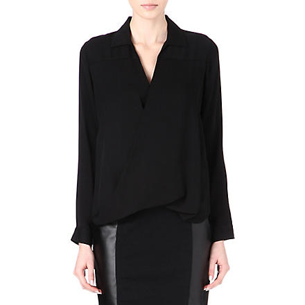 MICHAEL KORS Rakhi silk blouse (Black/silver