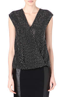 MICHAEL KORS Embellished wrap top