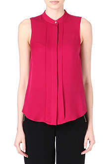 MICHAEL KORS Sleeveless silk top