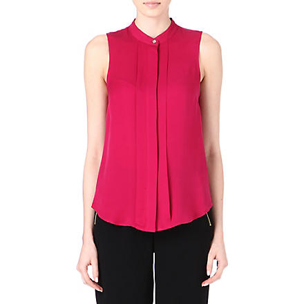 MICHAEL KORS Sleeveless silk top (Pink