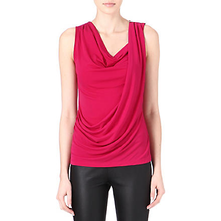 MICHAEL KORS Cowl-neck top (Pink