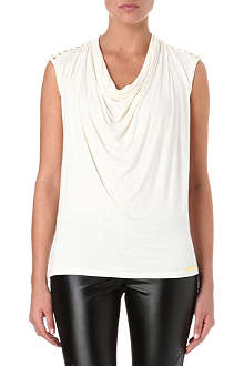 MICHAEL KORS Studded cowl neck top