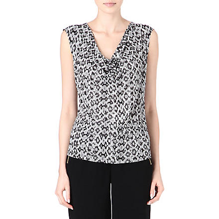 MICHAEL KORS Python-print top (Black