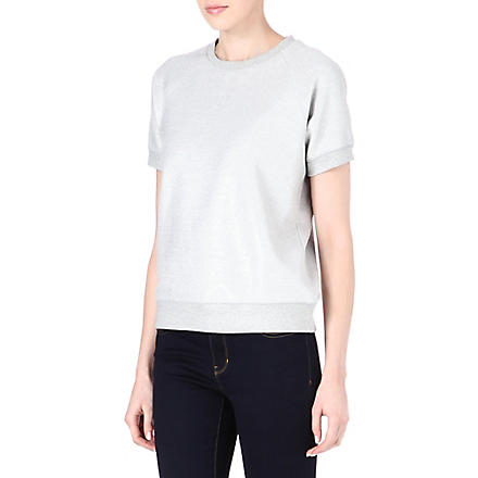 MICHAEL KORS Short-sleeved sweatshirt (Silver
