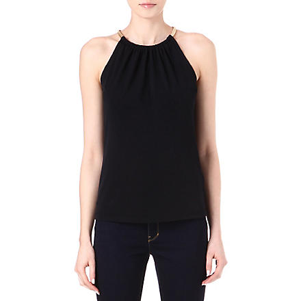 MICHAEL KORS Snake-chain halterneck top (Navy