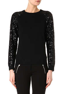 MICHAEL KORS Sequin-sleeved jumper