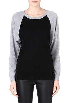 MICHAEL KORS Raglan lurex-sleeve jumper