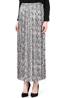 MICHAEL KORS Snake-print pleated skirt