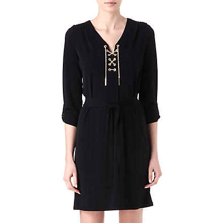 MICHAEL KORS Chain-detail dress (Navy