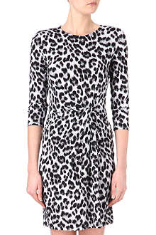 MICHAEL KORS Cheetah twist-jersey dress