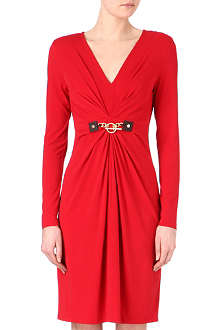 MICHAEL KORS Gathered chain-detail dress