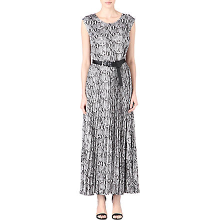 MICHAEL KORS Pleated skirt maxi dress (Black