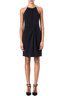 MICHAEL KORS Snake-chain halterneck dress