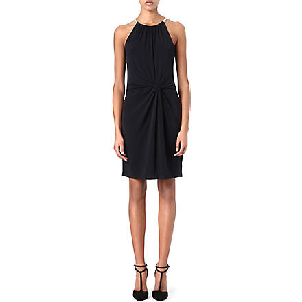 MICHAEL KORS Snake-chain halterneck dress (Navy