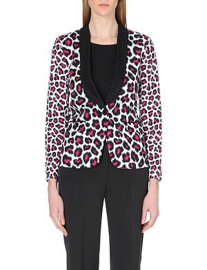 MICHAEL MICHAEL KORS Leopard-print tuxedo jacket