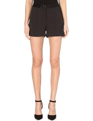 MICHAEL MICHAEL KORS High-waist tuxedo shorts
