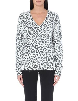 MICHAEL MICHAEL KORS Leopard-print knitted jumper