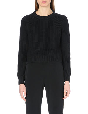 MICHAEL MICHAEL KORS Cropped ribbed jumper