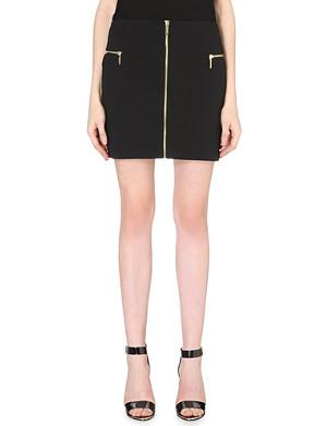 MICHAEL MICHAEL KORS Zip-detail stretch-jersey skirt