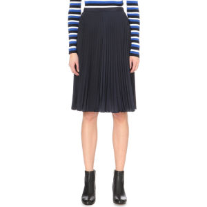 Pleated woven skirt