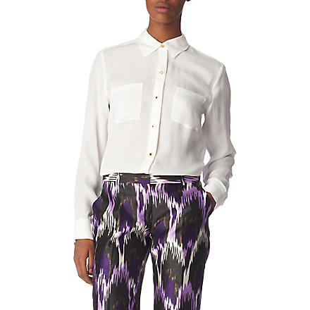 MICHAEL KORS Silk-chiffon shirt (White