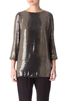 MICHAEL KORS Sequinned boatneck top