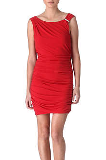 MICHAEL KORS Shirred jersey dress