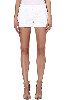 MICHAEL KORS Eyelet cotton shorts