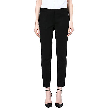 MICHAEL KORS Contrast-piping trousers (Black