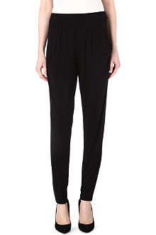 MICHAEL KORS Studded jersey trousers