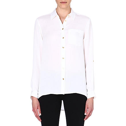 MICHAEL KORS Silk button shirt (White