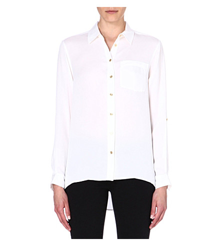 MICHAEL MICHAEL KORS Silk button shirt (White