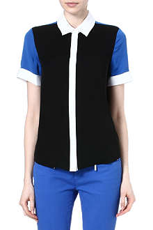 MICHAEL KORS Colour-blocked silk shirt