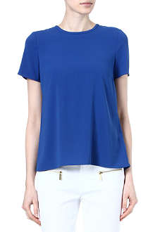 MICHAEL KORS Pleated-back crepe top
