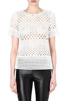 MICHAEL KORS Eyelet cut-out top